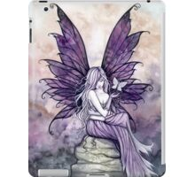 Letting Go Fairy Art with White Butterfly iPad Case/Skin