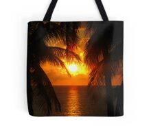 Palm Tree Silhouette, Sunset Tote Bag