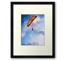 Paraglider Freedom in Varkala, India Framed Print