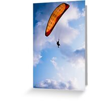 Paraglider Freedom in Varkala, India Greeting Card