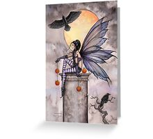 Autumn Raven Fantasy Gothic Fairy and Ravens  Greeting Card