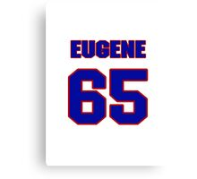National football player Eugene Rowell jersey 65 Canvas Print
