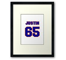 National football player Justin Smiley jersey 65 Framed Print