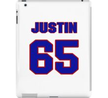 National football player Justin Smiley jersey 65 iPad Case/Skin