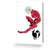 Nanatsu no Taizai Ban Greeting Card