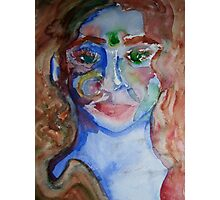 Lady in Blue Photographic Print