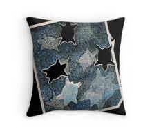 'moonlit binging' (moonlit turtle) #1 Throw Pillow
