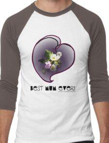 wildflower, Best Mum EVER! heart quirky Men's Baseball ¾ T-Shirt