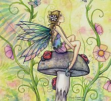 A Happy Place Flower Fairy and Ladybugs by Molly  Harrison