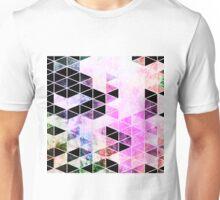 Pink & Black Modern Triangle Design Unisex T-Shirt