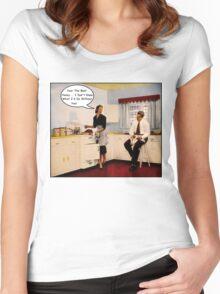 Kitchen Talk Women's Fitted Scoop T-Shirt