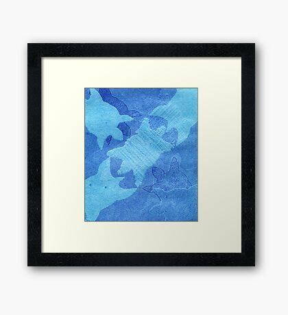 'saltwater binging' (saltwater turtle) Framed Print
