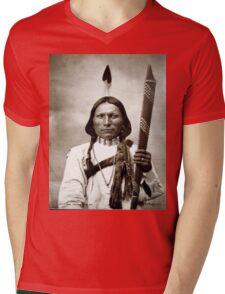 White Hawk Mens V-Neck T-Shirt