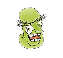 Mad Monster Man with Evil Expression Photographic Print