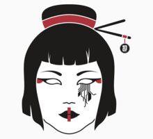 Geisha Chainsaw - Sticker by WolfeCreative