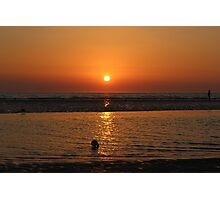 Stunning orange sun set Photographic Print