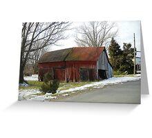 Morrisonville Barn Greeting Card