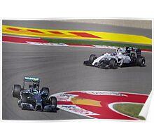 Bottas and Rosberg - Austin Grand Prix Poster
