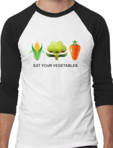 Eat Your Vegetables Men's Baseball ¾ T-Shirt