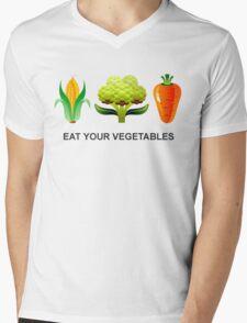 Eat Your Vegetables Mens V-Neck T-Shirt