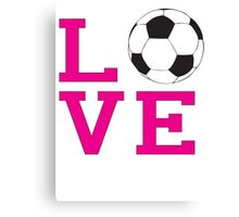 Love-Soccer Canvas Print