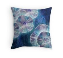 Fractaluminous Blue Throw Pillow
