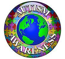 Autism awareness world Photographic Print