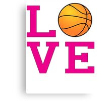 Love-Basketball Canvas Print