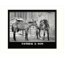 Father & Son Art Print