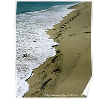 #502 Footprints In The Sand Poster