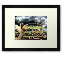 Foreknowledge of the Coming of the Christain Faith Framed Print