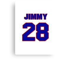 National football player Jimmy Orr jersey 28 Canvas Print