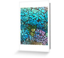 Colored Glass Pattern Greeting Card