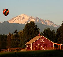 MT. BAKER & HOT AIR BALLOON FLYING by MsLiz