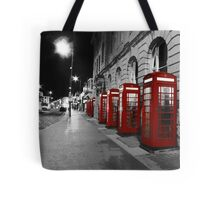 Red Phone Boxes Blackpool Tote Bag