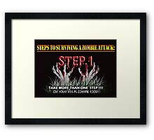 Zombie Survival Tips Framed Print
