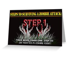 Zombie Survival Tips Greeting Card