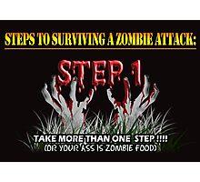 Zombie Survival Tips Photographic Print