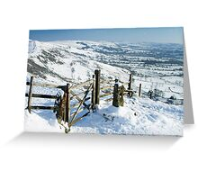 The Great Ridge Peak District Greeting Card