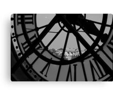 Clockwork 2 in black and white Canvas Print