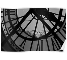 Clockwork 2 in black and white Poster