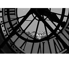 Clockwork 2 in black and white Photographic Print