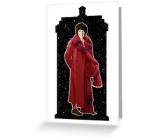 Fourth Doctor and The TARDIS Greeting Card