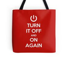 Keep Calm - Turn It Off and On Again Tote Bag