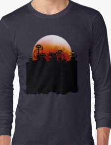 Black Cats On A Fence and Moon T-Shirt