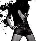 Black Splash 5 by David Willcox