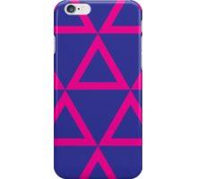 Geometric Pink & Blue Lovers iPhone Case/Skin