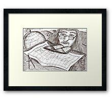 Cartographer dreaming Framed Print
