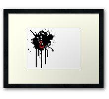 Venom Paint-Drip Framed Print