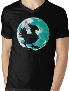 Wark at the Moon Mens V-Neck T-Shirt